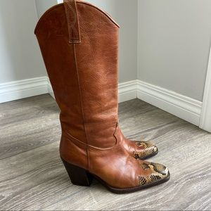 Vero Cuoio Italy Made Western Cowboy Boots